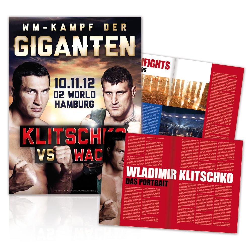 Klitschko vs Wach von Klitschko - Programmheft jetzt im Klitschko Shop