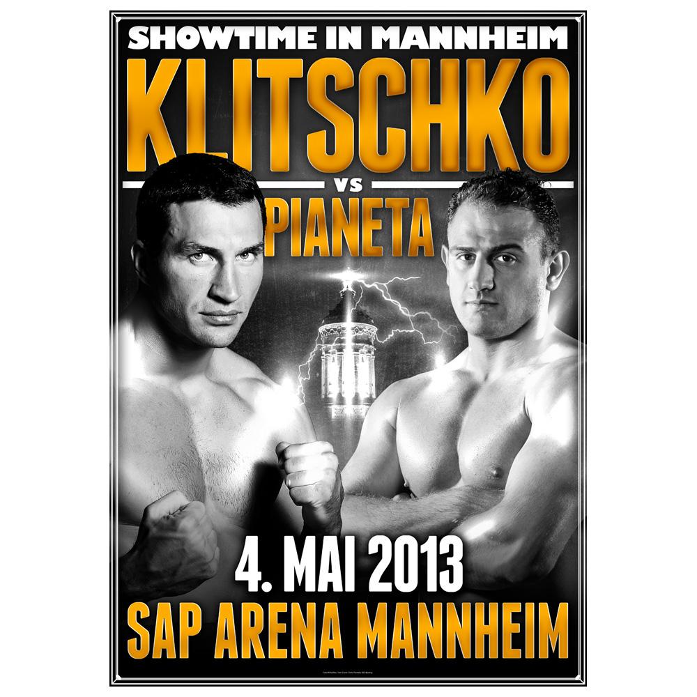 Klitschko vs Pianeta von Klitschko - Poster jetzt im Klitschko Shop