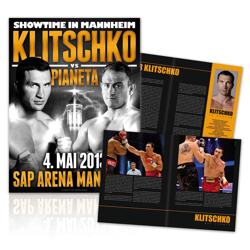 Klitschko vs Pianeta von Klitschko - Programmheft jetzt im Klitschko Shop