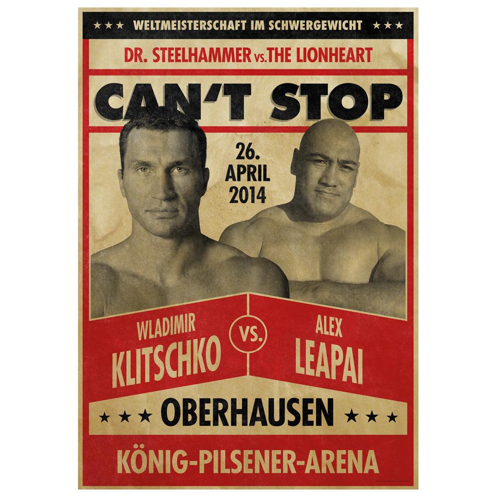 Wladimir Klitschko vs Alex Leapai von Klitschko - Poster jetzt im Klitschko Shop