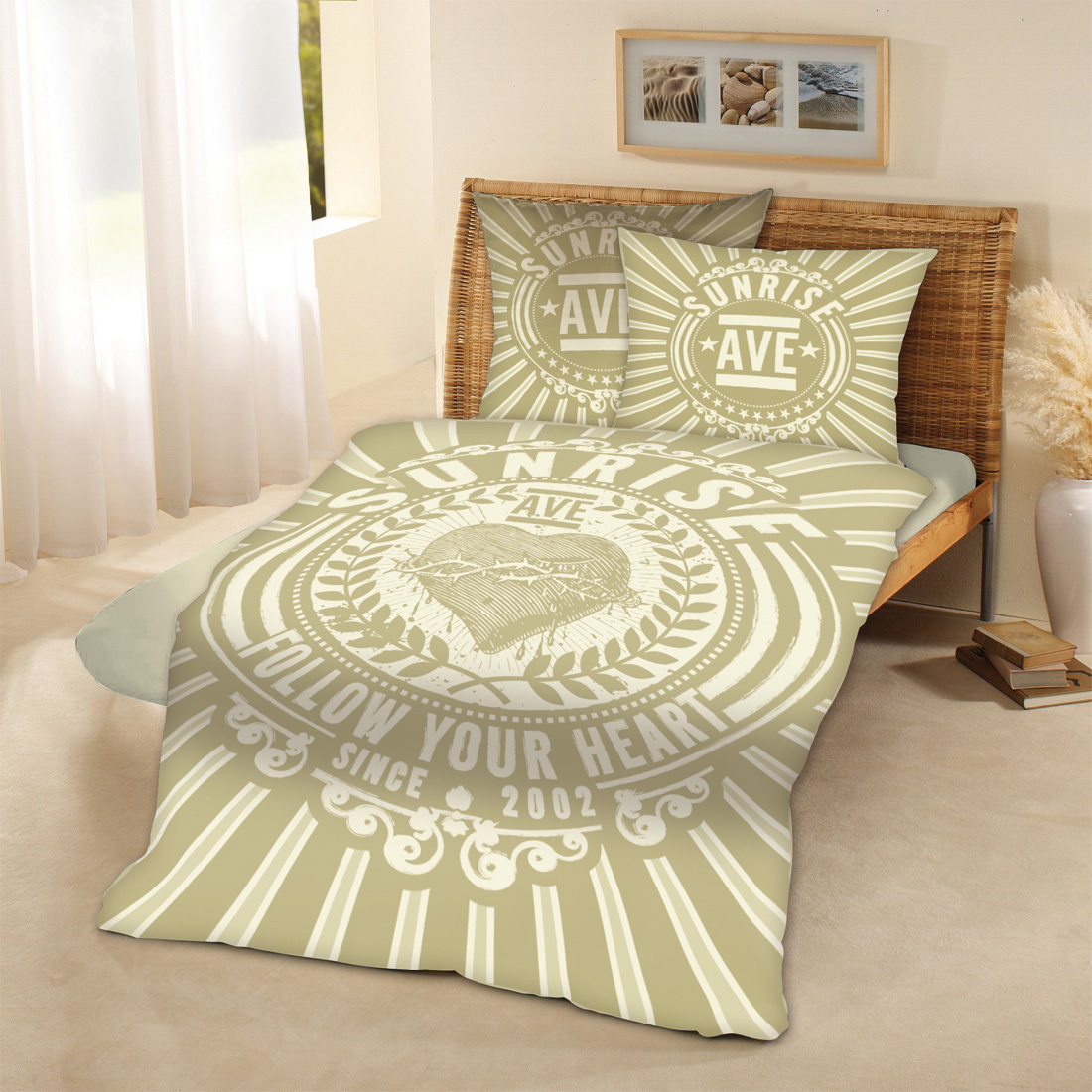 √Follow Your Heart von Sunrise Avenue - Bed linen jetzt im Sunrise Avenue Shop