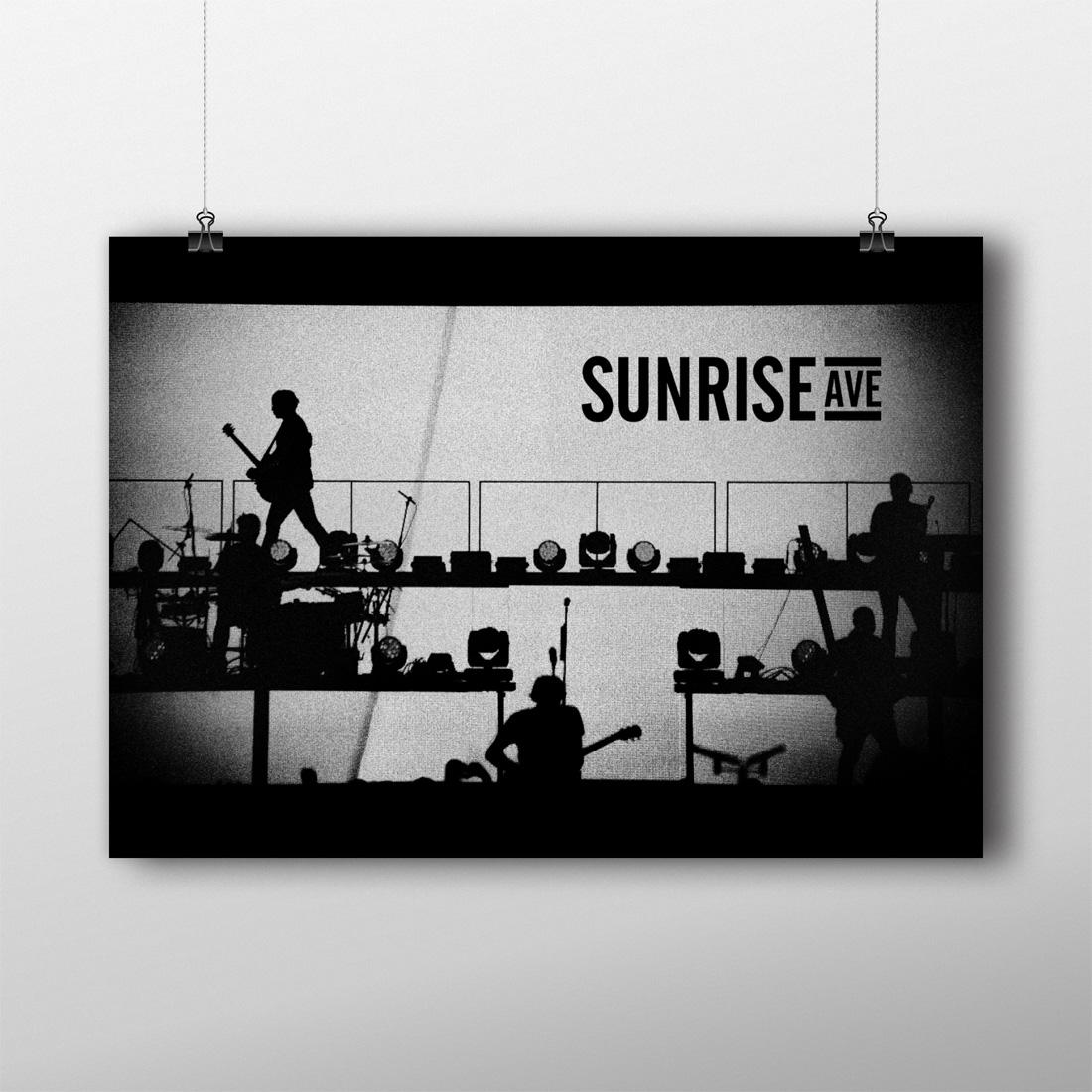 Silhouette von Sunrise Avenue - Poster jetzt im Bravado Shop