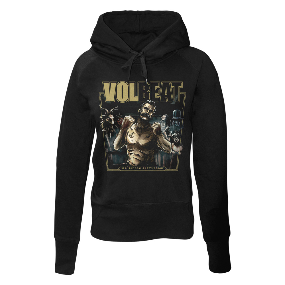 √Seal The Deal & Let's Boogie Cover von Volbeat - Girlie hooded sweater jetzt im Volbeat Shop