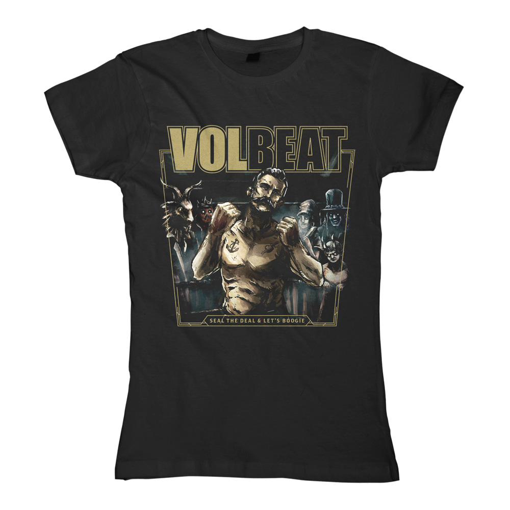√Seal The Deal & Let's Boogie Cover von Volbeat - Girlie shirt jetzt im Volbeat Shop