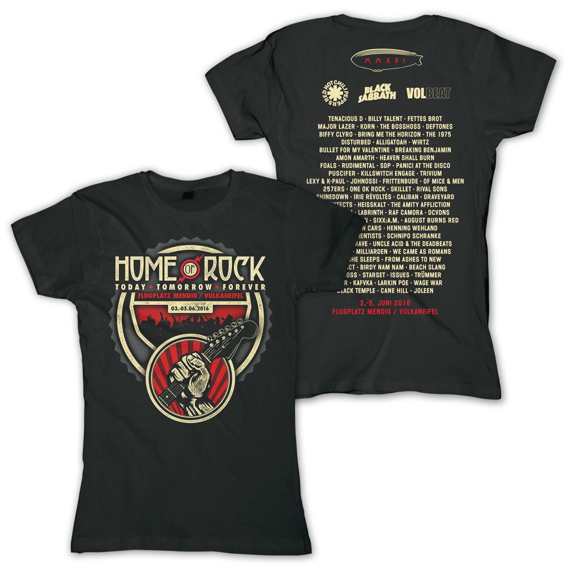 Guitar Crowd von Rock am Ring Festival - Girlie Shirt jetzt im My Festival Shop Shop