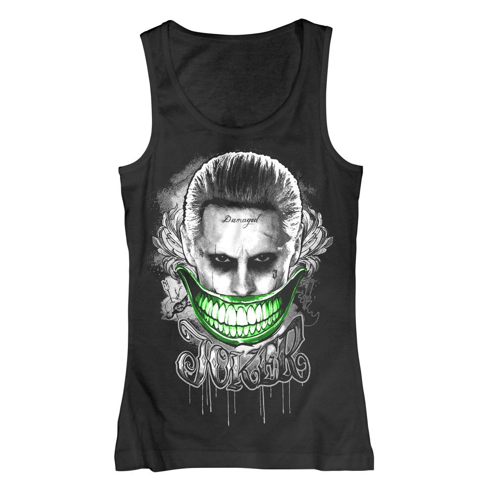 Joker Smile von Suicide Squad - Girlie Top jetzt im SuperTees Shop