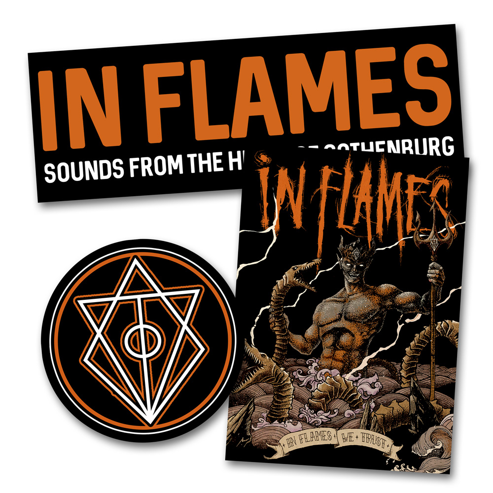 √Sounds From The Heart... von In Flames - 3er Aufkleber Set jetzt im In Flames Shop