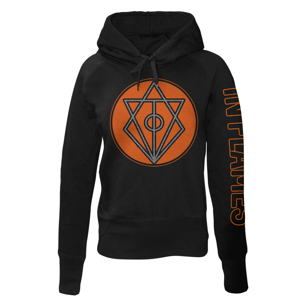 √Circle Filled von In Flames - Girlie hooded sweater jetzt im In Flames Shop