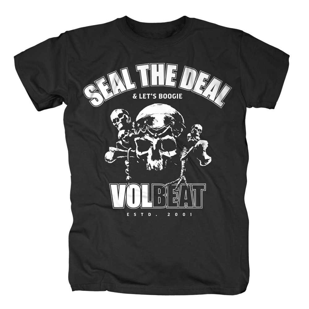 √Seal The Deal Skull von Volbeat - T-shirt jetzt im Volbeat Shop
