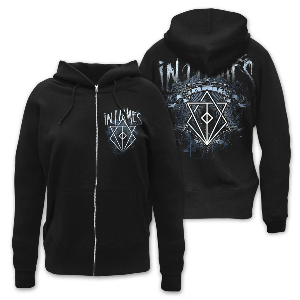 √Battles Crest von In Flames - Girlie hooded jacket jetzt im In Flames Shop