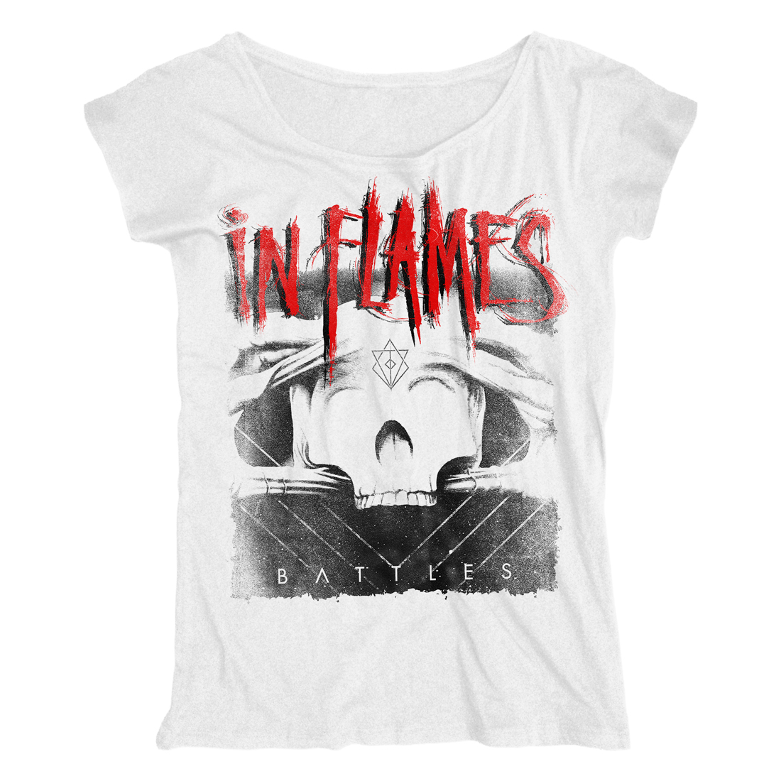 √Battles White Cover von In Flames - Girlie Shirt Loose Fit jetzt im In Flames Shop
