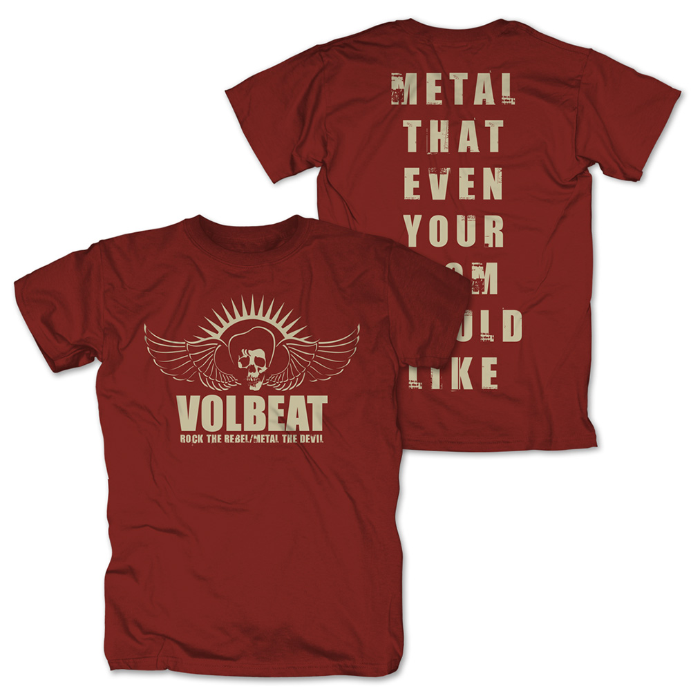 √Rock the Rebel - Metal the Devil sepia von Volbeat - T-Shirt jetzt im Volbeat Shop