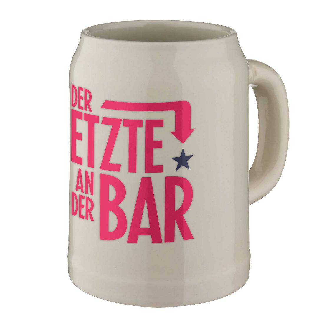 Big Typo - der Letzte an der Bar von Henning Wehland - Bierkrug jetzt im Bravado Shop