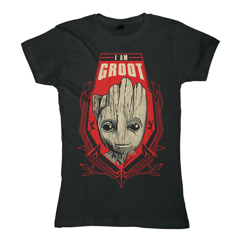 Groot Shield von Guardians of the Galaxy - Girlie Shirt jetzt im SuperTees Shop