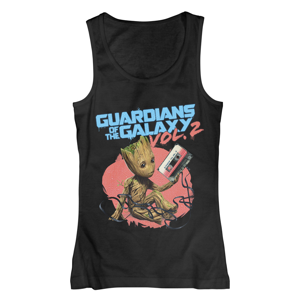 Groot Tape von Guardians of the Galaxy - Girlie Top jetzt im SuperTees Shop