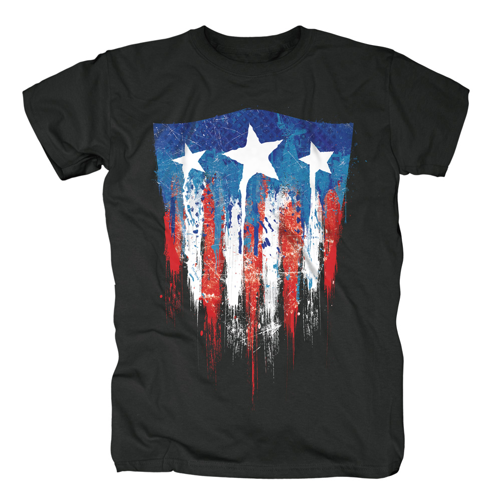 Captain America - Sprayed Flag von Marvel Comics - T-Shirt jetzt im SuperTees Shop