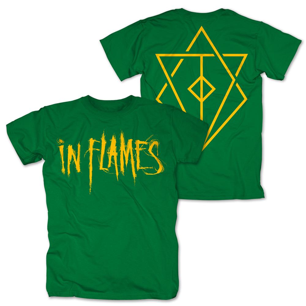 Logo green von In Flames - T-Shirt jetzt im Bravado Shop