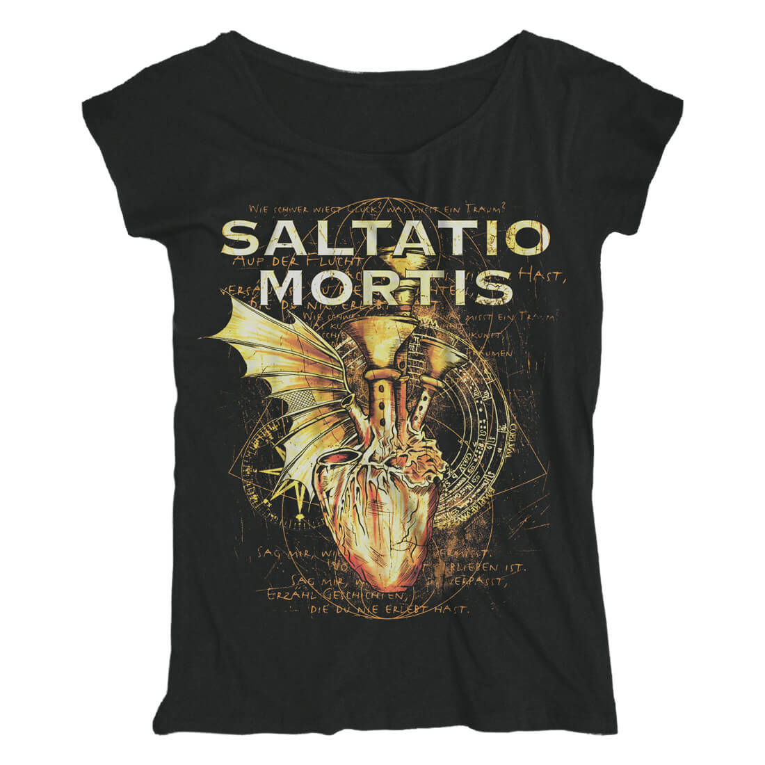 Pipe Heart von Saltatio Mortis - Loose Fit Girlie Shirt jetzt im Saltatio Mortis Shop