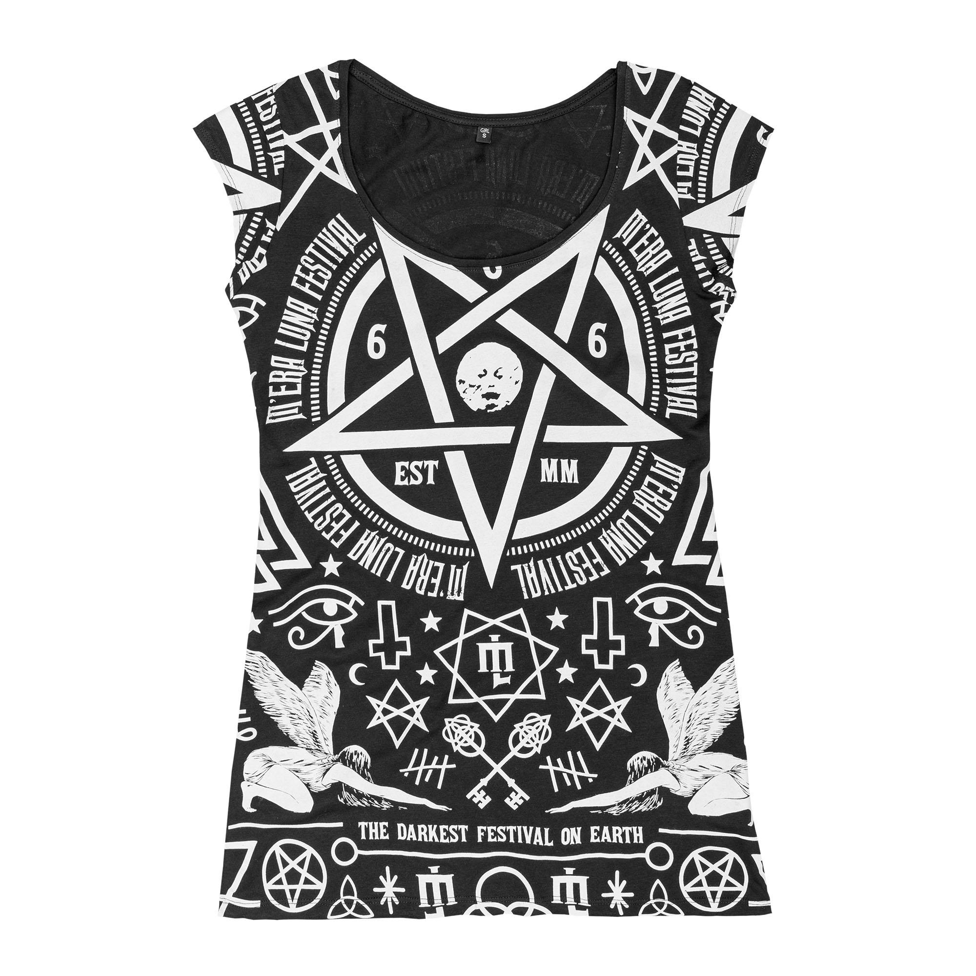Occult Allover von Mera Luna Festival - Girlie Shirt jetzt im My Festival Shop Shop