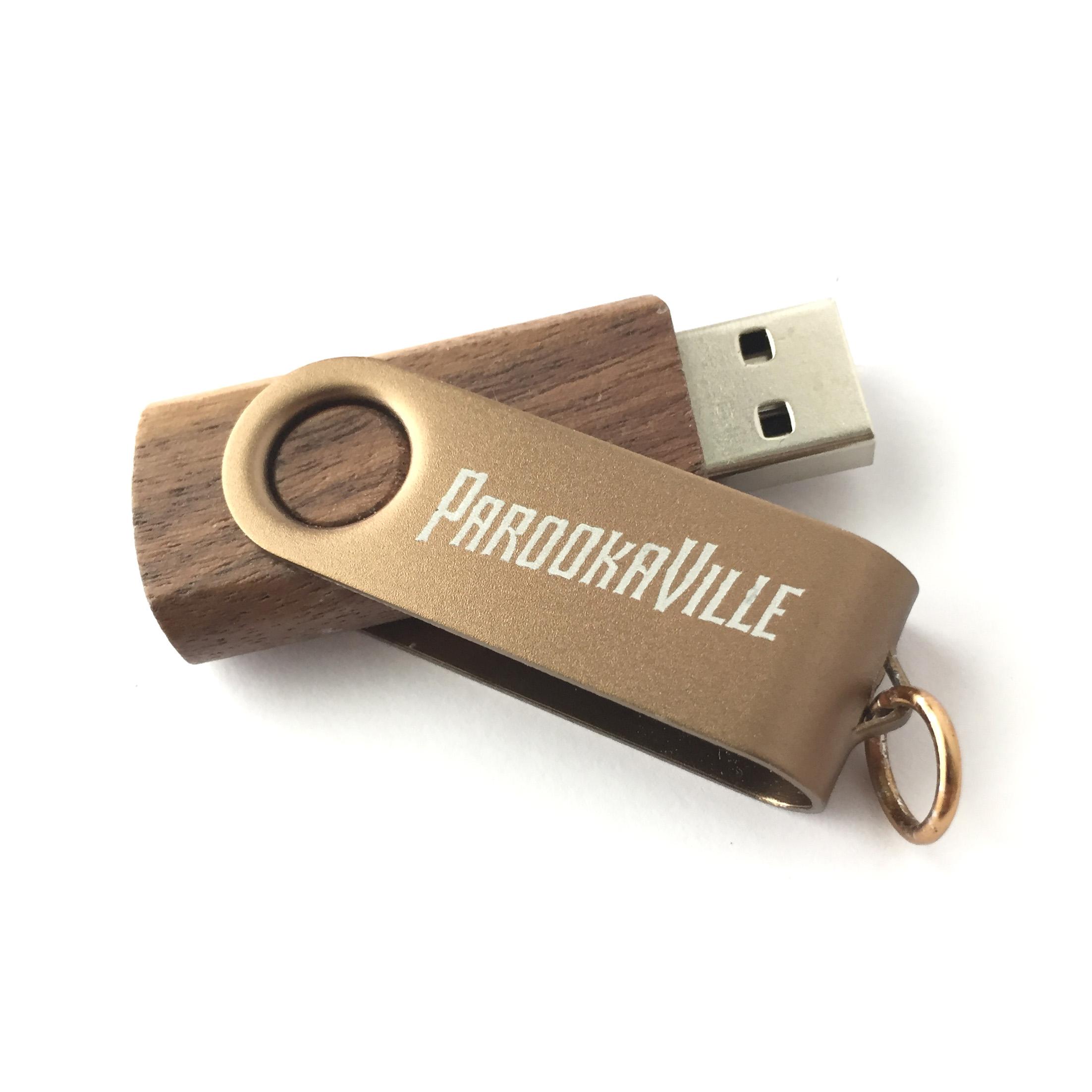 Logo Gold von ParookaVille Festival - USB Stick jetzt im My Festival Shop Shop