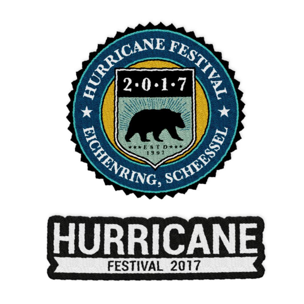Logo von Hurricane Festival - Patch - Set (2-er) jetzt im My Festival Shop Shop
