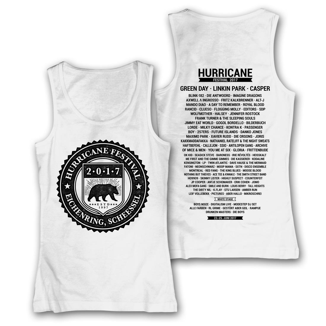 College Badge von Hurricane Festival - Girlie Tank Top jetzt im My Festival Shop Shop