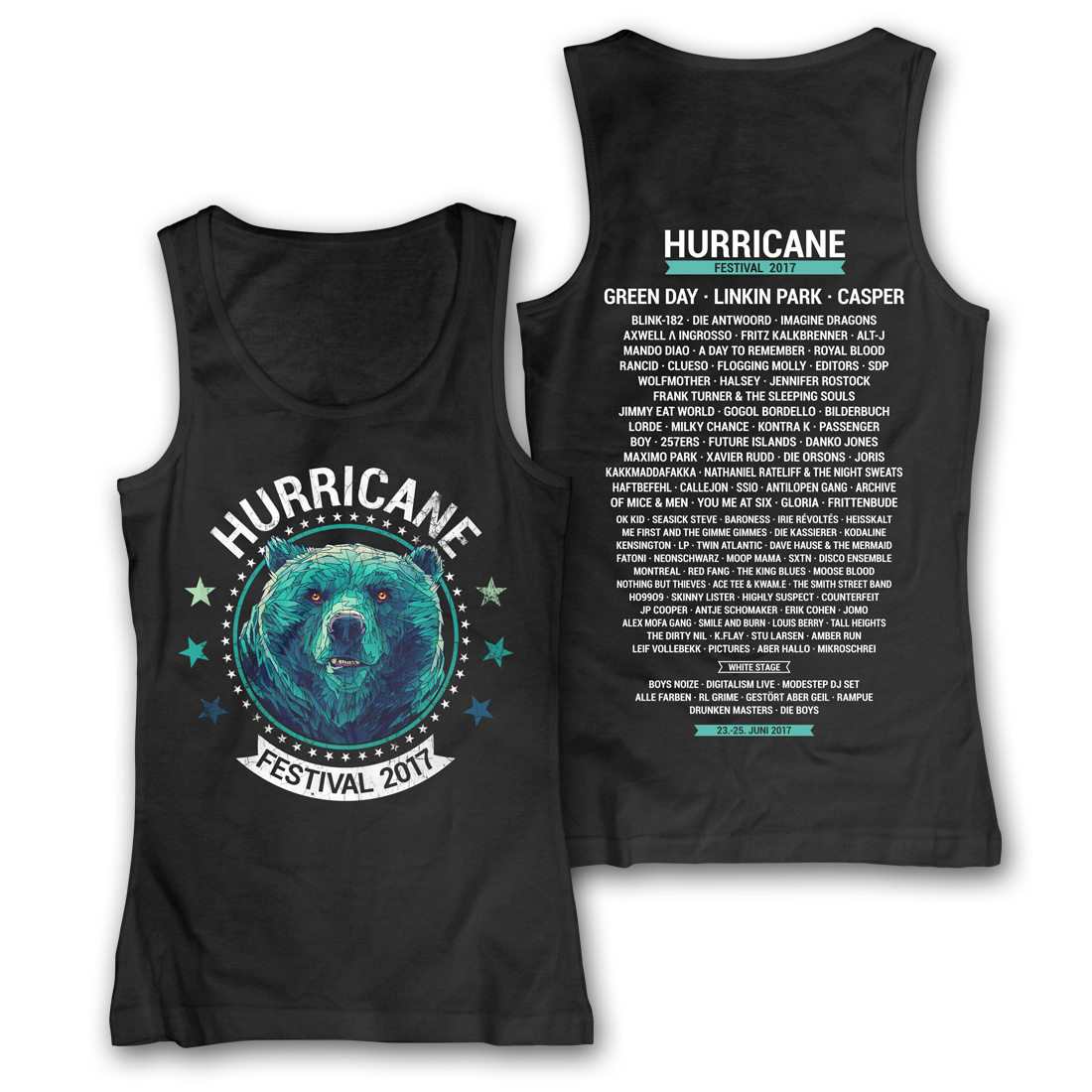 Circle Bear von Hurricane Festival - Girlie Tank Top jetzt im My Festival Shop Shop
