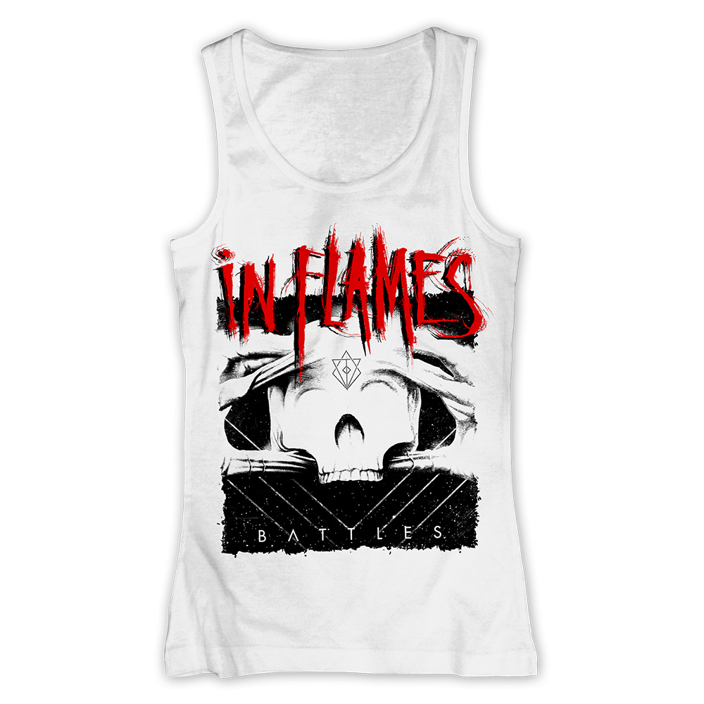 √Battles Cover White von In Flames - Girlie tank top jetzt im In Flames Shop