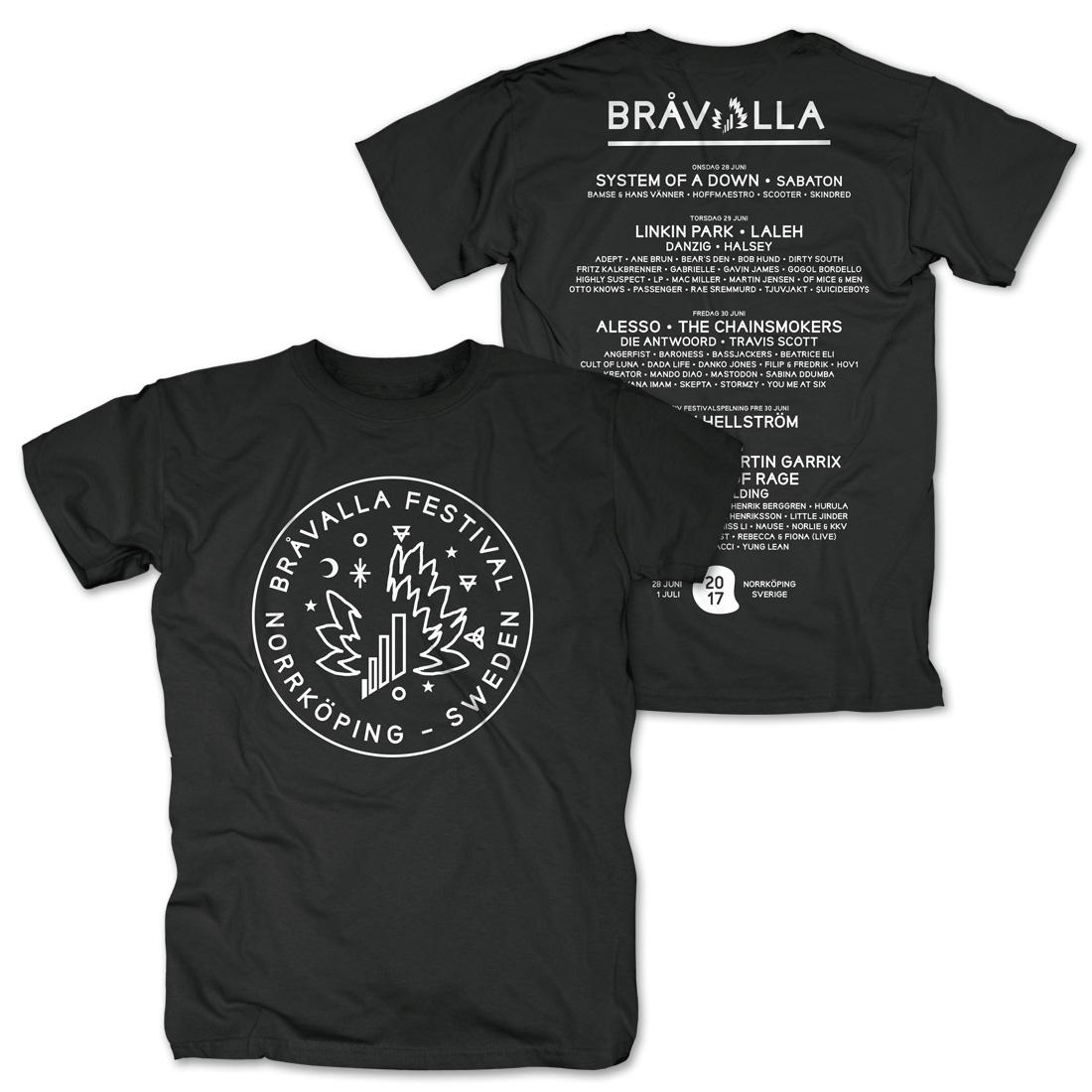 Circle Logo von Bravalla - T-Shirt jetzt im My Festival Shop Shop
