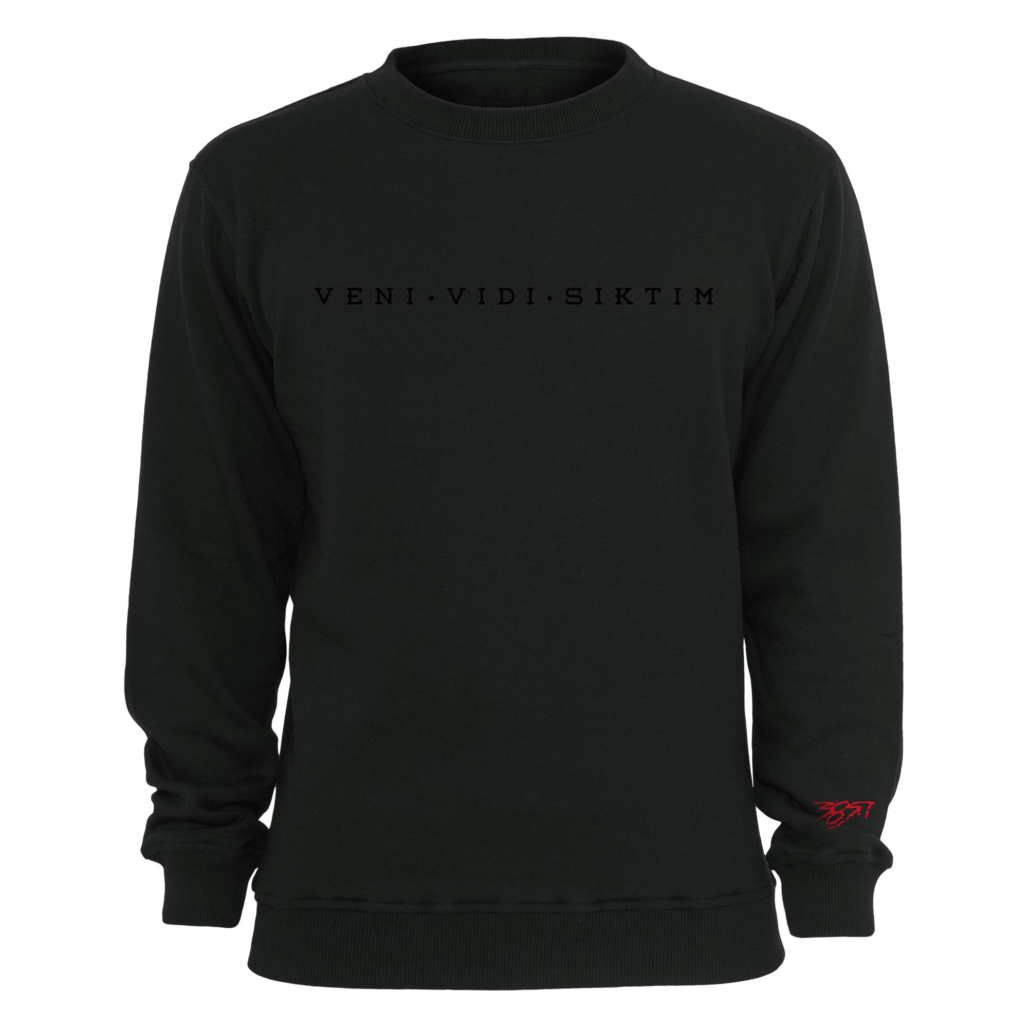 Veni Vidi Siktim - Black on Black von Nimo - Sweater jetzt im 385ideal Shop