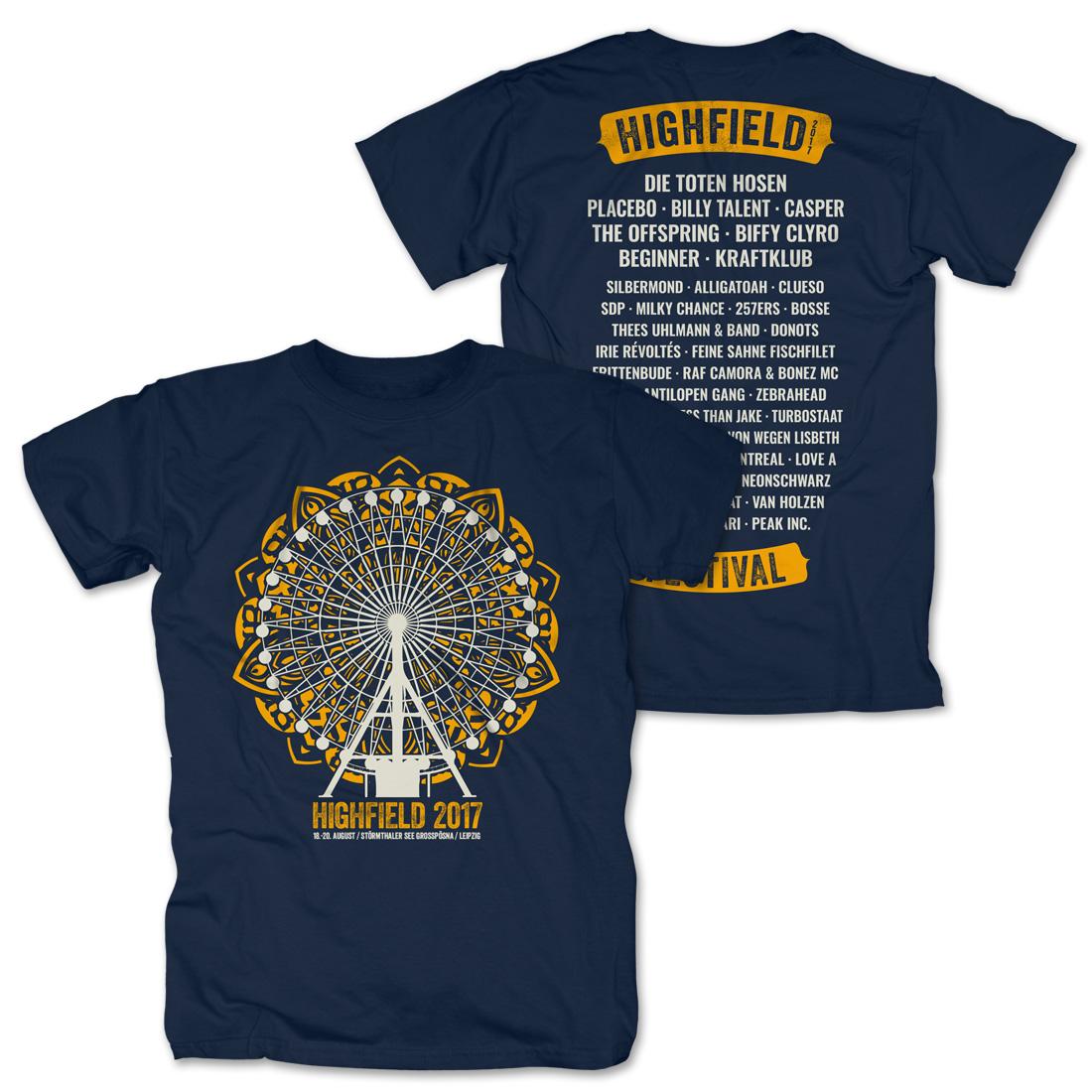 Big Wheel Mandala von Highfield Festival - T-Shirt jetzt im My Festival Shop Shop