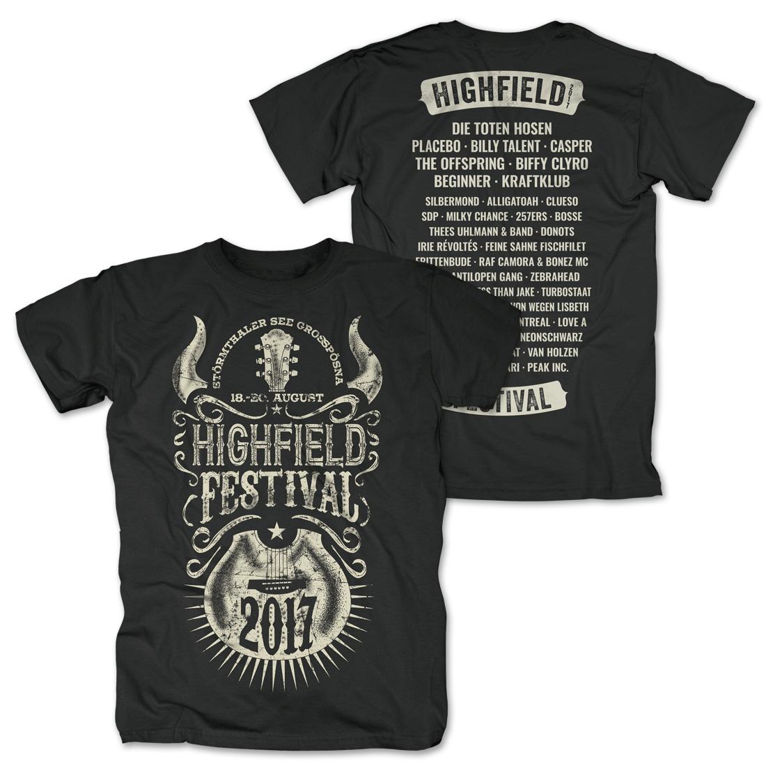 Horny Guitar von Highfield Festival - T-Shirt jetzt im My Festival Shop Shop
