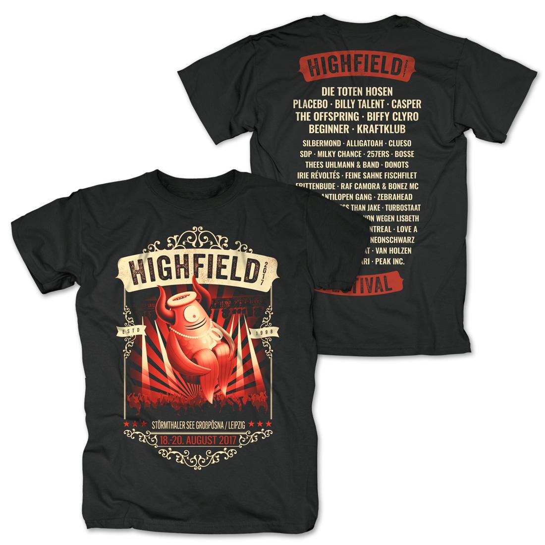 Stagediver von Highfield Festival - T-Shirt jetzt im Bravado Shop