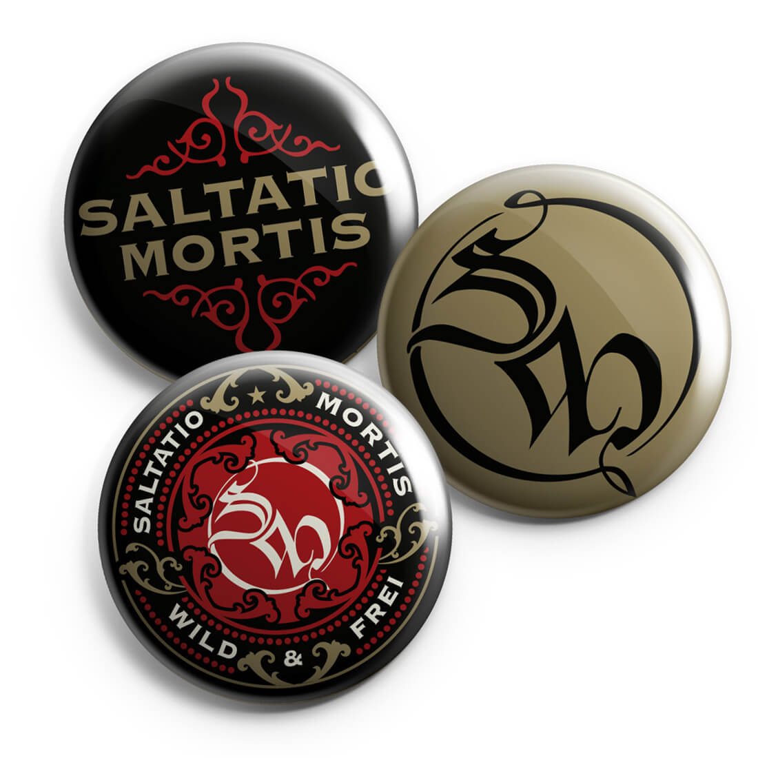 Ornament von Saltatio Mortis - Button 3-er Set jetzt im Saltatio Mortis Shop