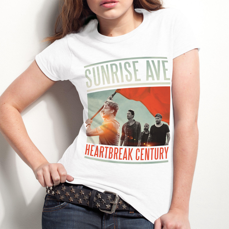 Heartbreak Century Cover von Sunrise Avenue - Girlie Shirt jetzt im Bravado Shop