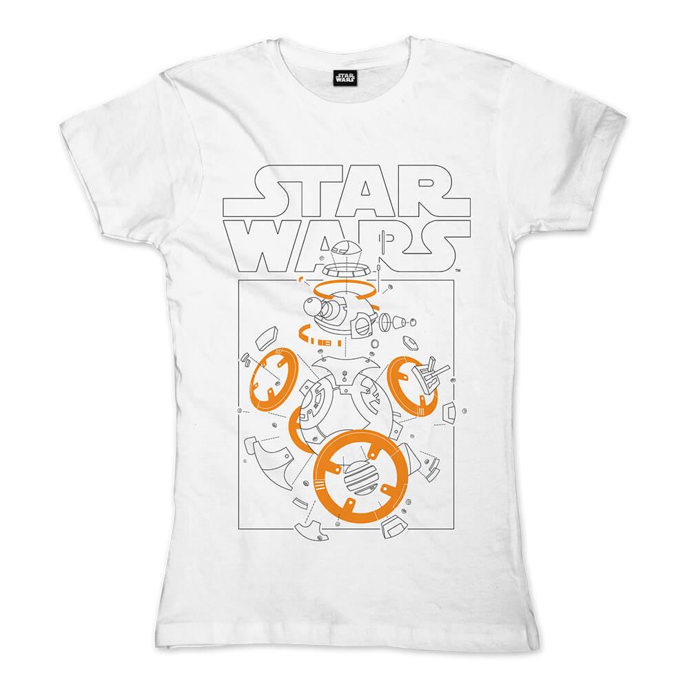 BB-8 Components von Star Wars - Girlie Shirt jetzt im SuperTees Shop