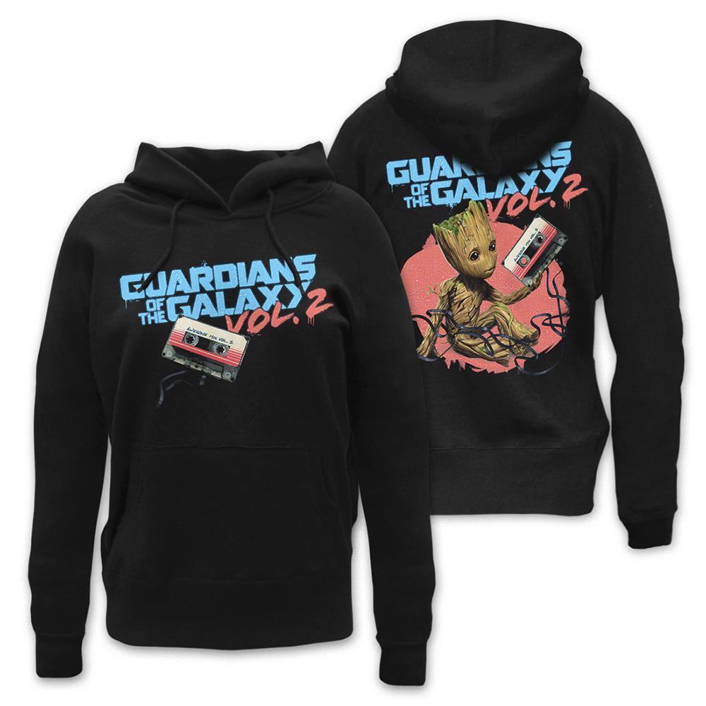 Groot Tape von Guardians of the Galaxy - Girlie Kapuzenpullover jetzt im SuperTees Shop