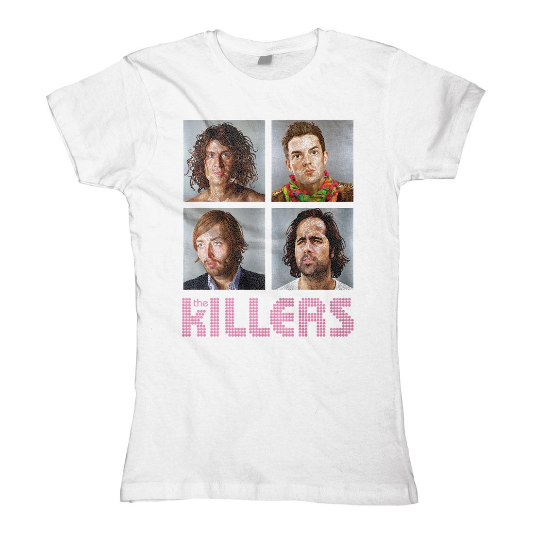 Headshot weiß von The Killers - Girlie Shirt jetzt im Bravado Shop