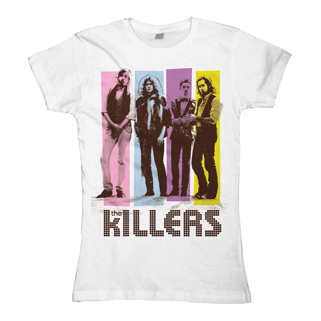 Color Blocks von The Killers - Girlie Shirt jetzt im Bravado Shop