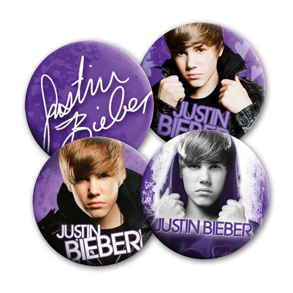 Purple von Justin Bieber - Button 4-er Set jetzt im Bravado Shop