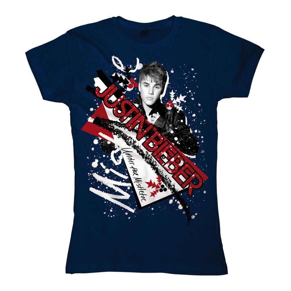 Snowy Mistletoe von Justin Bieber - Girlie Shirt jetzt im Justin Bieber Shop