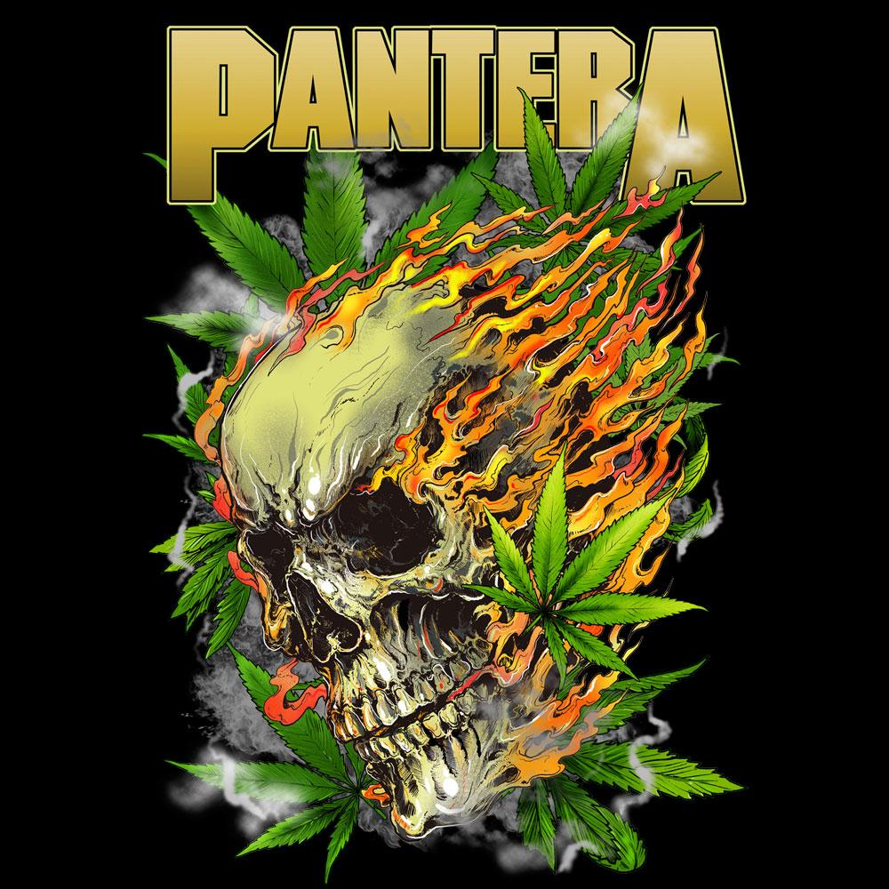 Pantera Skull Bravado Skull Leaf Pantera