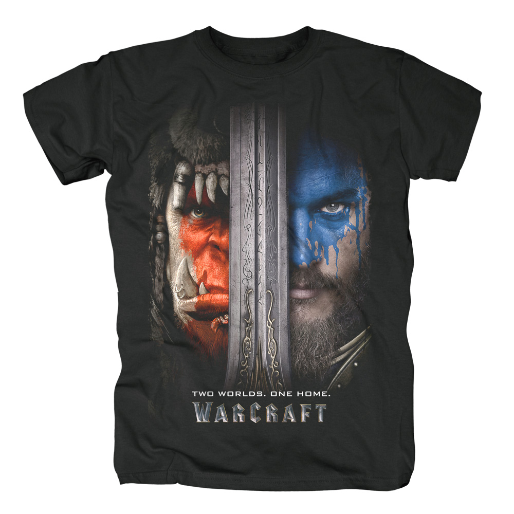 Two Worlds One Home von Warcraft - T-Shirt jetzt im SuperTees Shop