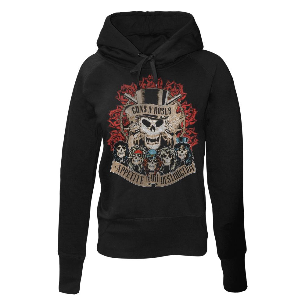 Appetite Coliseum von Guns N' Roses - Girlie Kapuzenpullover jetzt im Bravado Shop