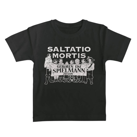 Geboren um Spielmann zu sein von Saltatio Mortis - Kinder Shirt jetzt im Saltatio Mortis Shop