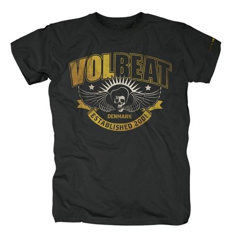 √Yellow Skullwing Ribbon von Volbeat - T-Shirt jetzt im Volbeat Shop