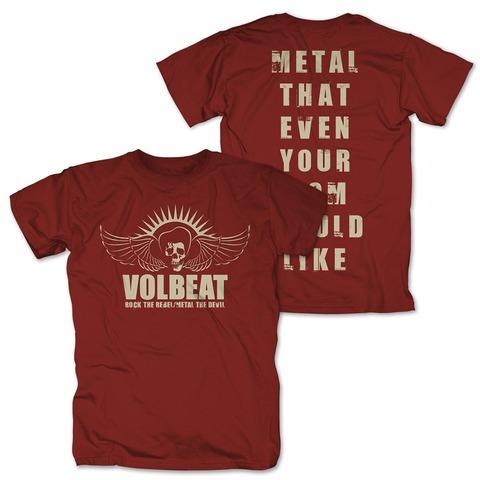 √Rock the Rebel - Metal the Devil sepia von Volbeat - T-Shirt jetzt im Volbeat Shop