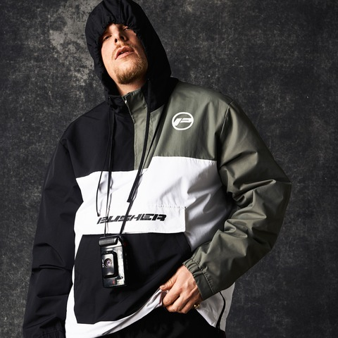 Black Barricade Pull Over Jacket von Pusher Apparel - Jacke jetzt im Pusher Apparel Shop