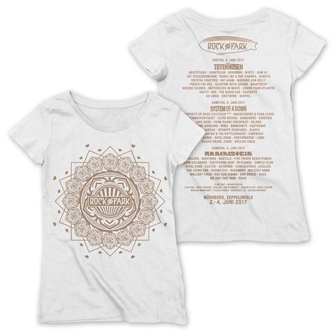Rock Mandala von Rock im Park Festival - Girlie Shirt Loose Fit jetzt im My Festival Shop Shop
