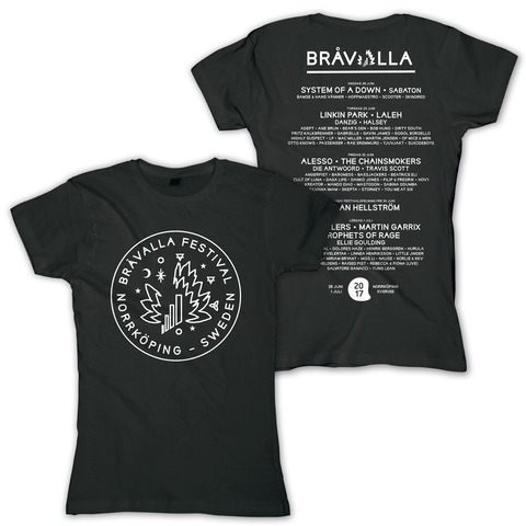 Circle Logo von Bravalla - Girlie Shirt jetzt im My Festival Shop Shop